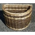 Bike basket for Brompton bicycle in Green and White willow