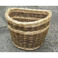 Extra large Basket. Can be used to carry small dog - green and white willow