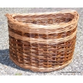 Bike basket for Brompton bicycle in Red and Buff willow