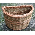 Bike basket for Brompton bicycle in Green and Buff willow