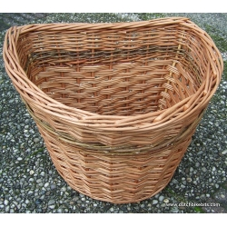 Extra large Basket. Can be used to carry small dog - buff and green willow
