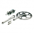 Single speed crankset with cotter pins