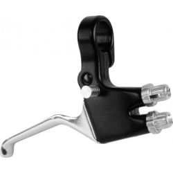 Double brake lever for both brakes on one handlebar