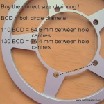 Alligt chainrings 110 / 130 BCD