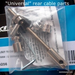 Complete brake cable for hub brake