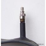 Adaptor to use Woods/Presta pumps on Schrader valves