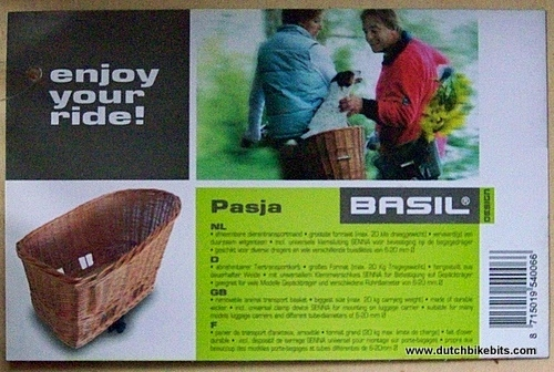 Pasja Rear Bike Basket