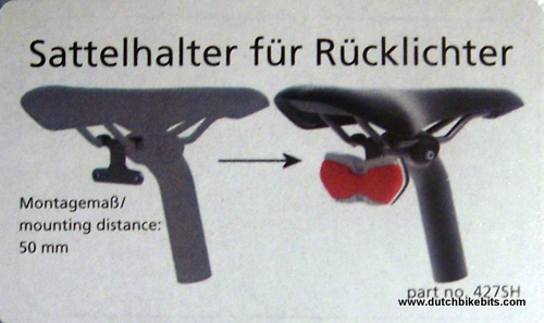 Busch Und Muller Bracket For Mounting Rear Light On Saddle
