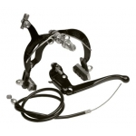 Complete kit of parts to add front brake to backpedal brake bike