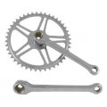 Traditional design steel crankset - without cotter pins