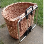 Bike basket for Brompton bicycle in Buff and White willow