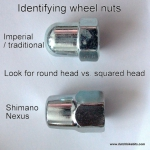Wheel nuts for traditional bikes (5/16 and 3/8 inch)