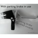 Double brake lever for both brakes on one handlebar