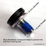 M8 Bottom bracket bolts for square axle
