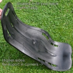 Alligt recumbent and velomobile seat